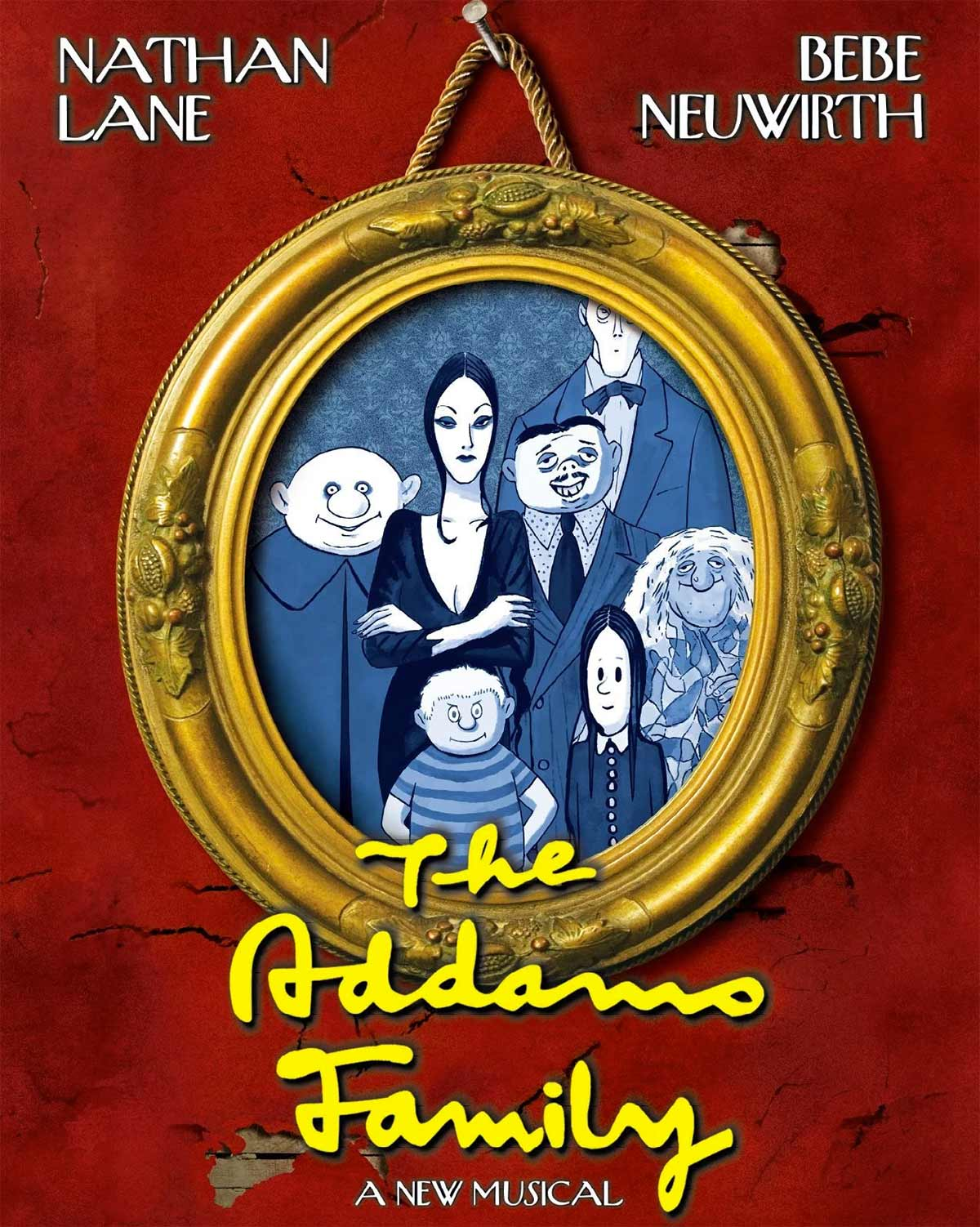 The Addams Family Broadway poster.