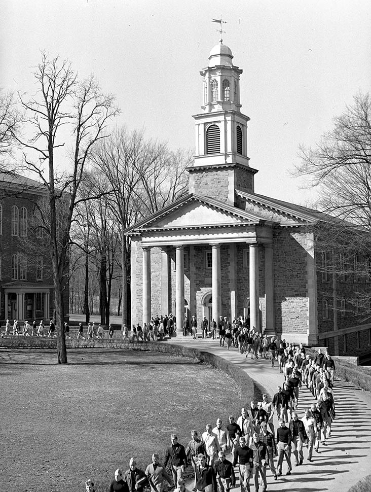Cadets leave Memorial Chapel