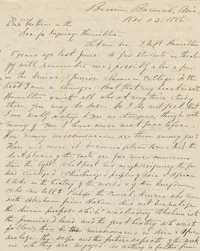 image of hand-written letter