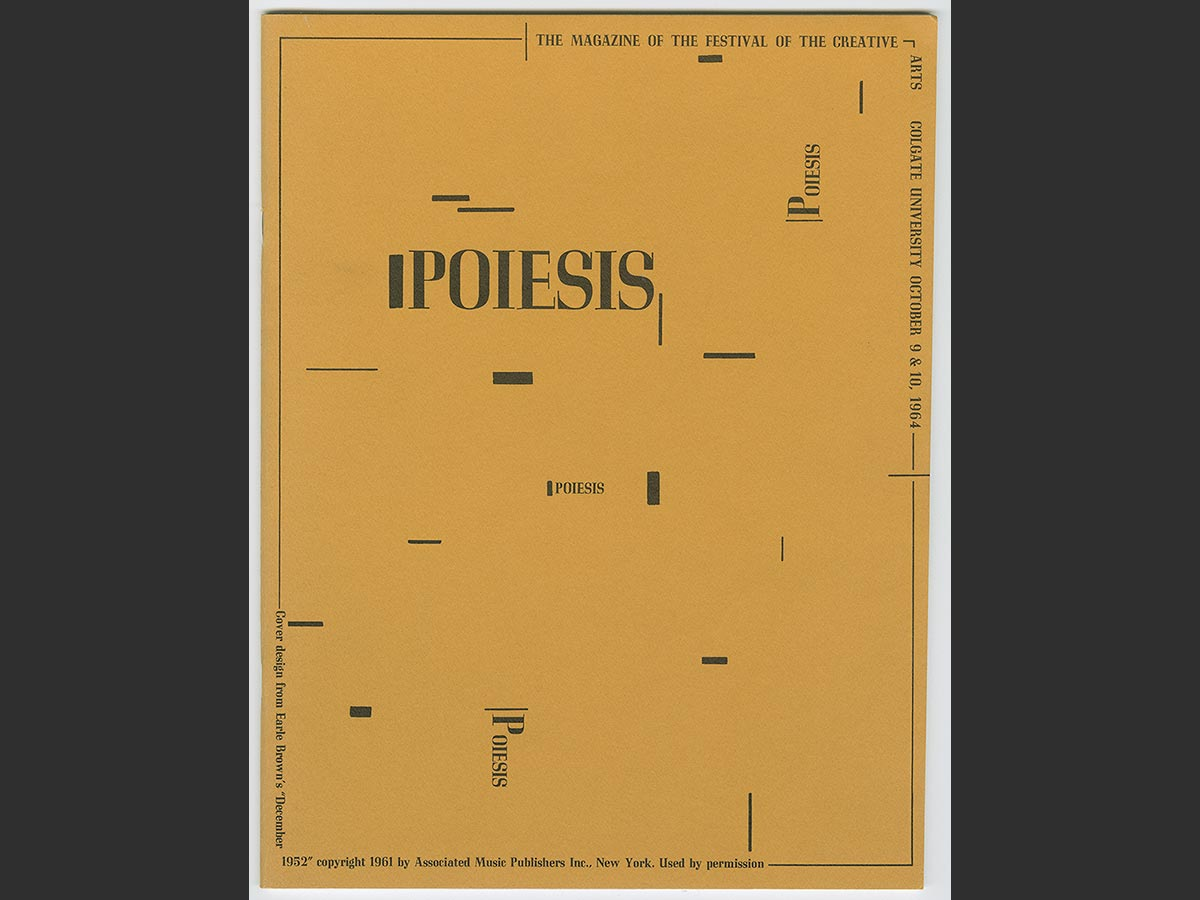 Cover of Poiesis magazine, produced during the 1964 Festival of the Creative Arts