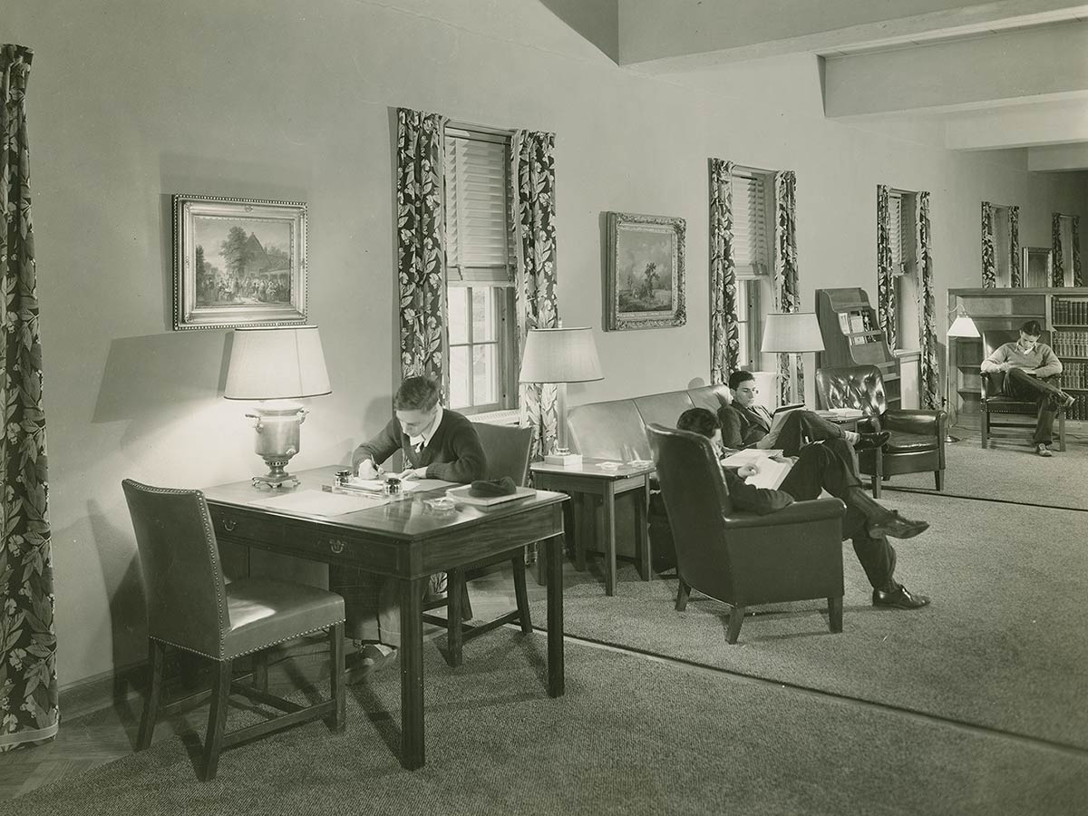 Students study in luxurious study room