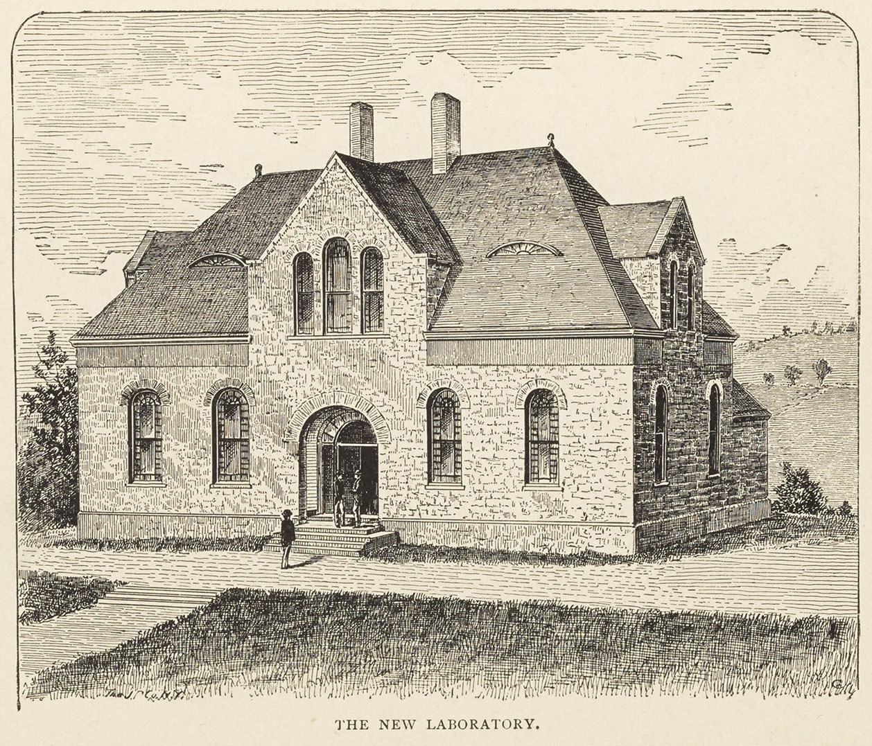 """The New Laboratory,"" Salmagundi yearbook, 1886."