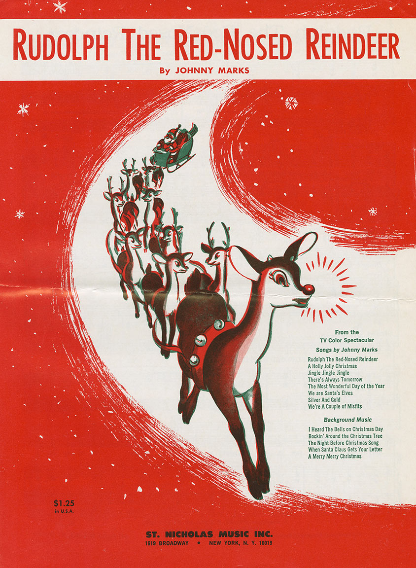 "Cover of sheet music to ""Rudolph the Red-Nosed Reindeer"""