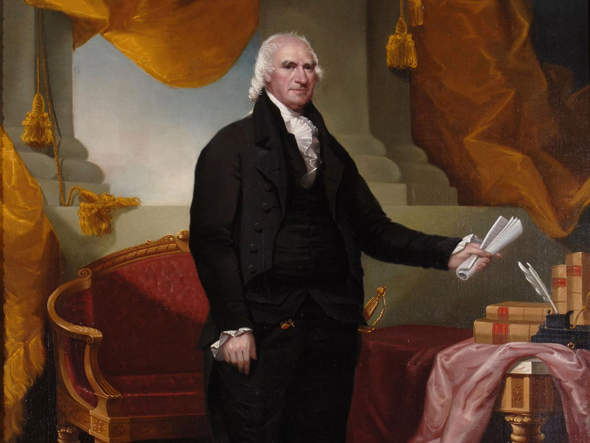 Painted portrait of Governor George Clinton