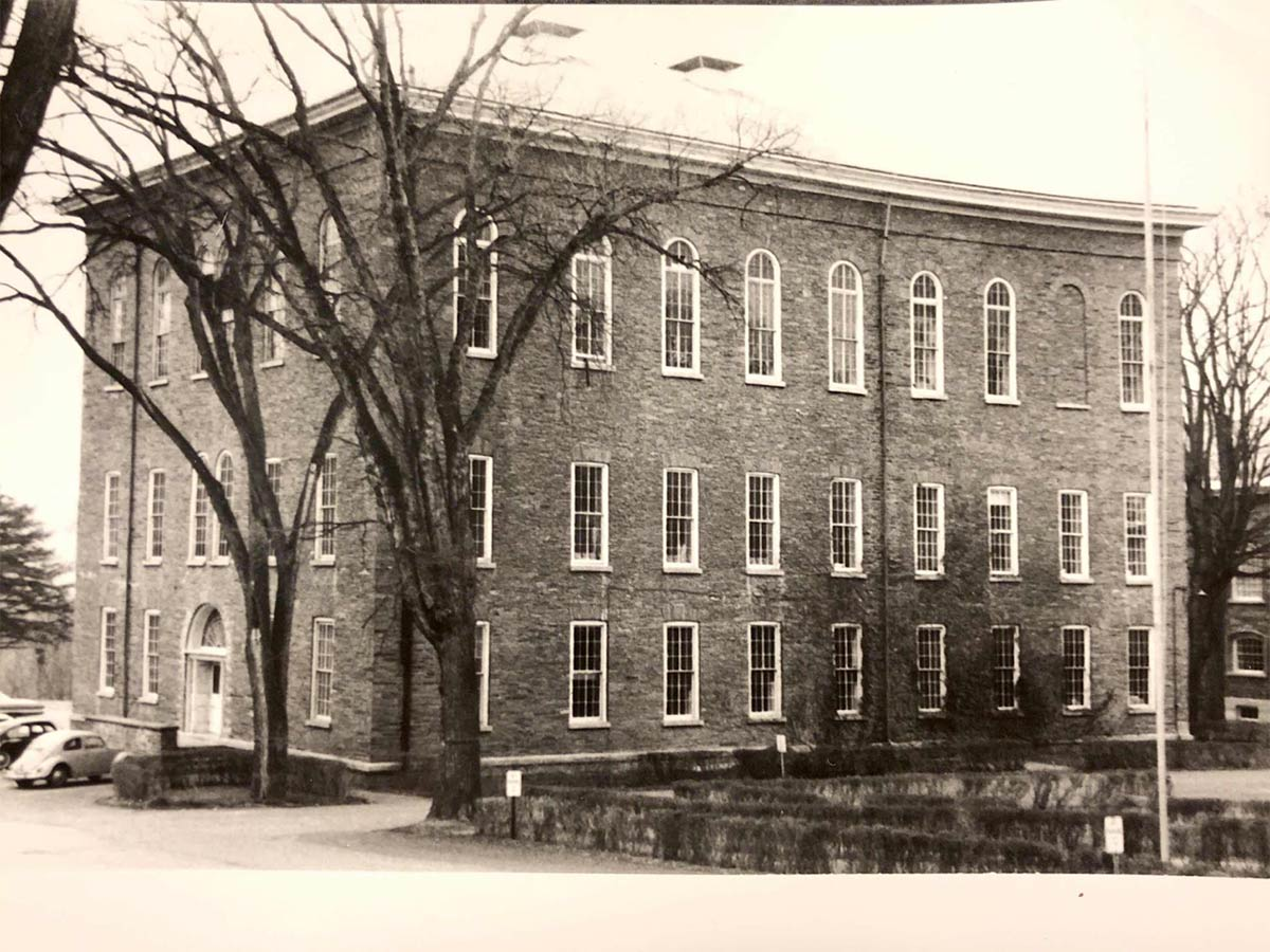 Alumni Hall in the mid-20th century